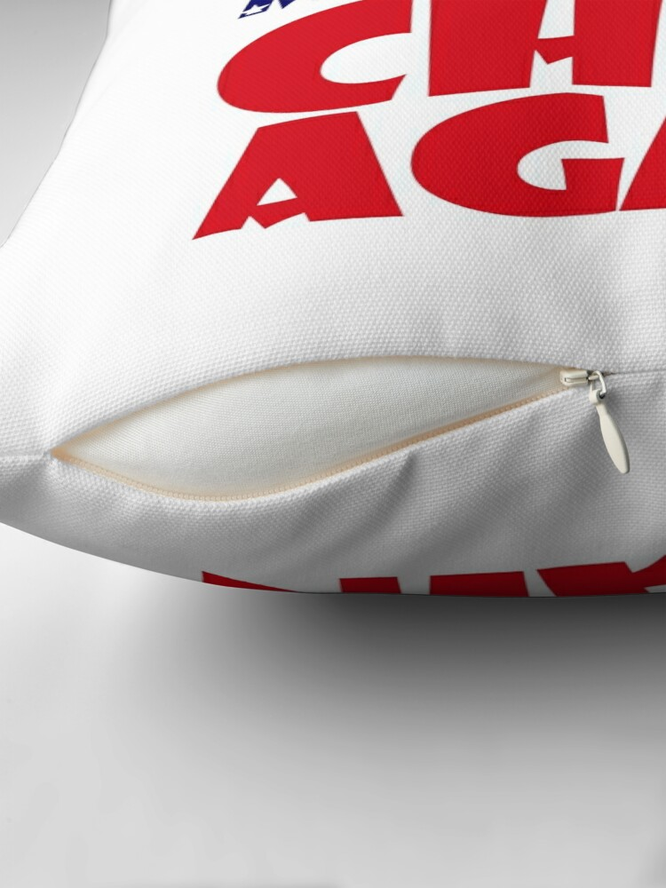 Alternate view of POLITICO-BOT: Make America Chibi Again Throw Pillow