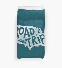 Road Trip USA - blue Duvet Cover