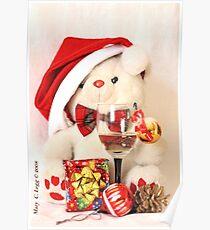 Mr Teddy Bear celebrates Christmas Poster