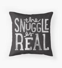 Snuggle ist Real - Schwarz Dekokissen
