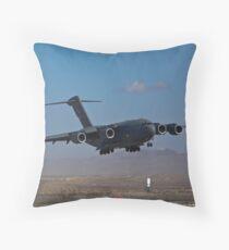 C-17 Globemaster III landing during 2009 Aviation Nation Throw Pillow