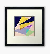 Contemporary Geometric Triangles 2 Framed Print