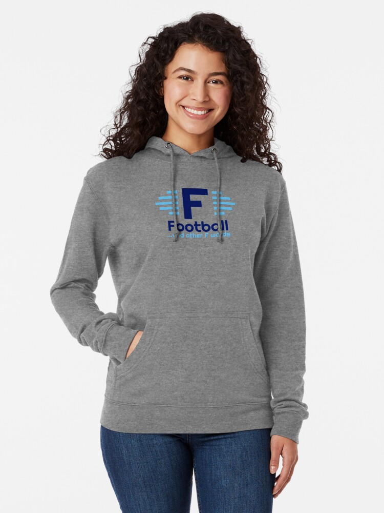 Alternate view of Football & Other F Words Main Logo Lightweight Hoodie