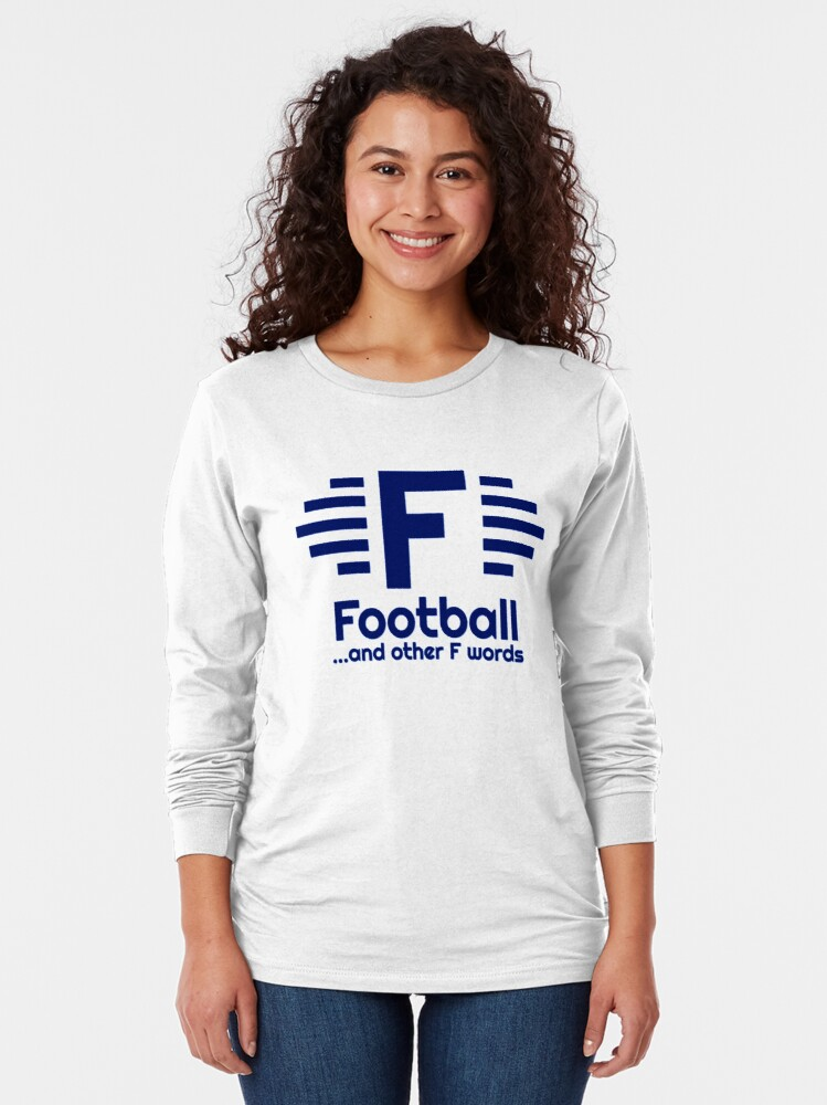 Alternate view of ALL Navy Football & Other F Words Main Logo Long Sleeve T-Shirt