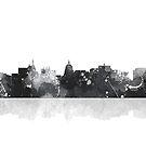 Madison, Wisconson Skyline - Schwarz und Weiß von Marlene Watson