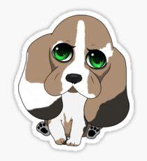Chibi Basset Hound Sticker