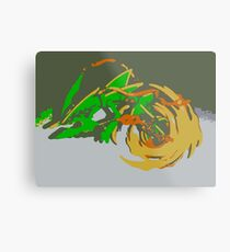 """Minimalistic Pokemon - Mega Rayquaza "" by limitedskins.com Metal Print"