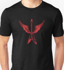 Flying V Guitar (Red) Unisex T-Shirt