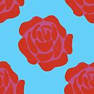 Roses on Blue by caseykayb