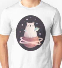 Yawning Space God Cat Slim Fit T-Shirt