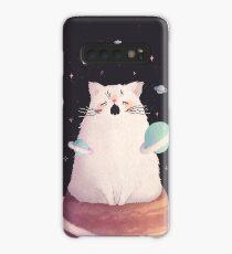Yawning Space God Cat Case/Skin for Samsung Galaxy