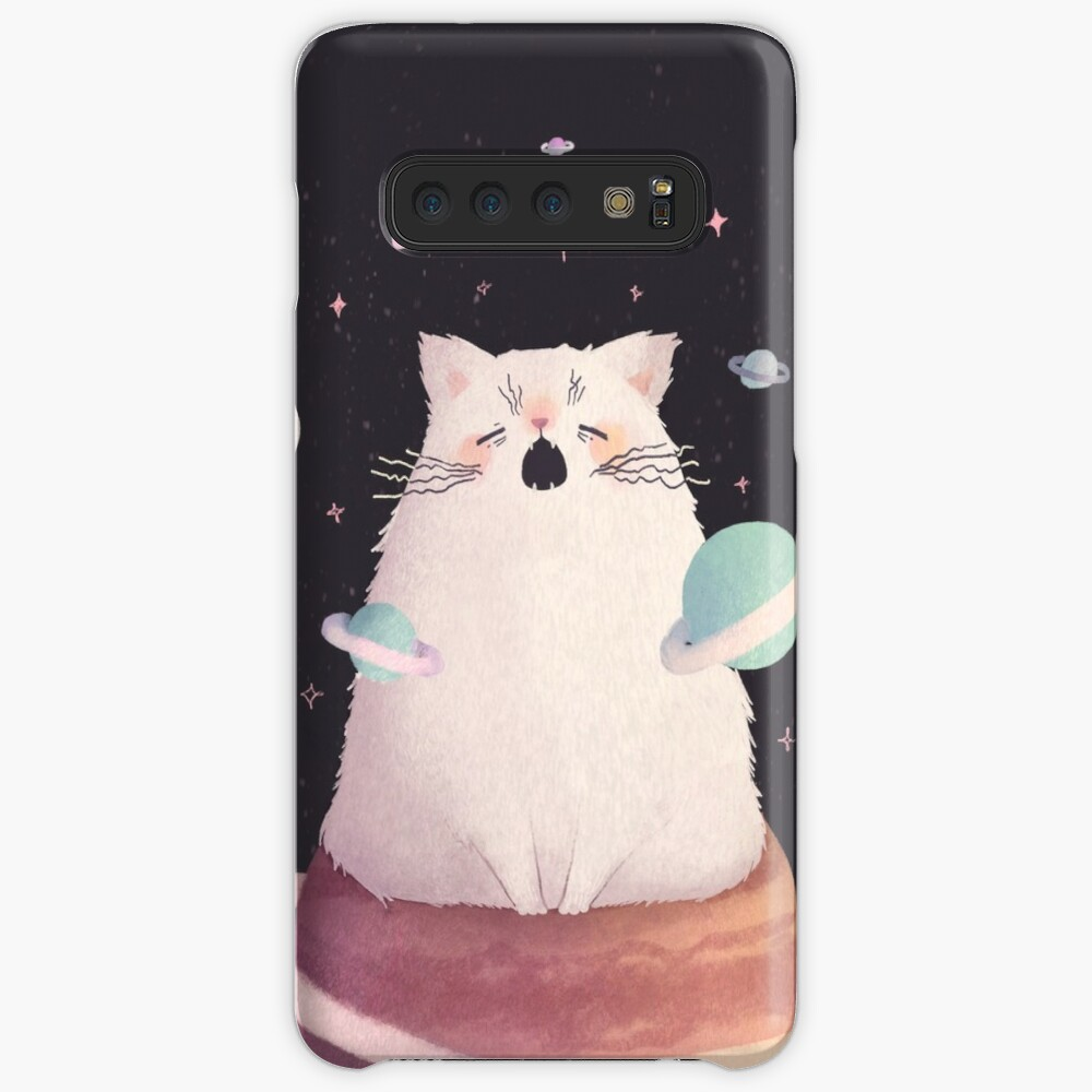 Yawning Space God Cat Case & Skin for Samsung Galaxy