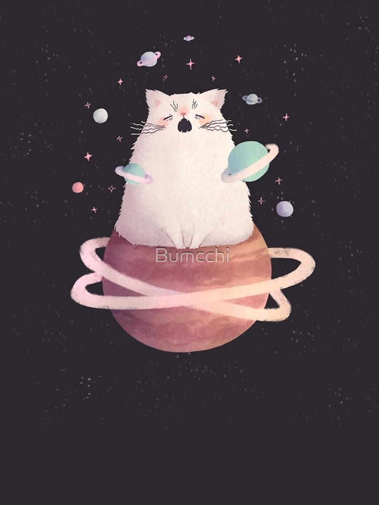 Yawning Space God Cat by Bumcchi
