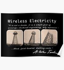 Nikola Tesla - Wireless Electricity Poster