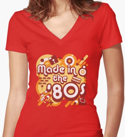 Made In The 80s Women's Fitted V-Neck T-Shirt