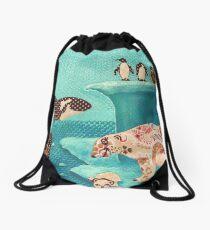 Arctic Wonderland Drawstring Bag