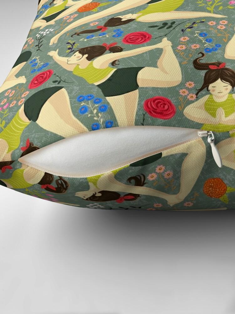Alternate view of Yoga Love in blue Floor Pillow