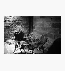 Table & Chairs Photographic Print