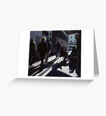 A Street Scene! Greeting Card