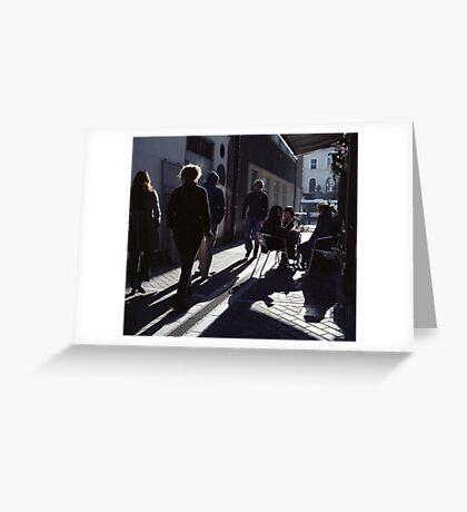 A Street Scene! Greeting Card