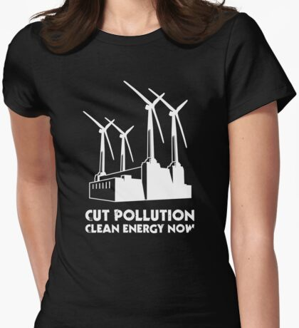 Cut Pollution - Clean Energy Now (on dark colours) T-Shirt