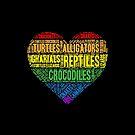 Reptiles Heart Word Cloud by PogonaVitticeps