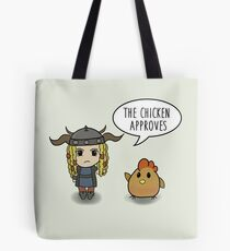 """""""The Chicken Approves"""" HTTYD Race to the Edge Tote Bag"""