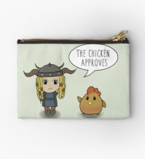 """""""The Chicken Approves"""" HTTYD Race to the Edge Studio Pouch"""