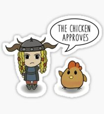"""""""The Chicken Approves"""" HTTYD Race to the Edge Sticker"""