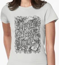 Rain, Tea & Books - Full version Women's Fitted T-Shirt