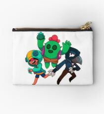 Brawl Stars | Leon, Spike and Crow HD design Zipper Pouch