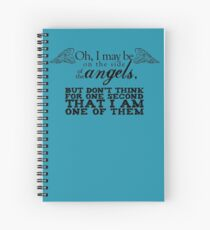 Side of the Angels Spiral Notebook