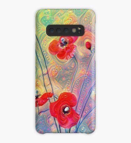 #Deepdreamed Poppies Case/Skin for Samsung Galaxy