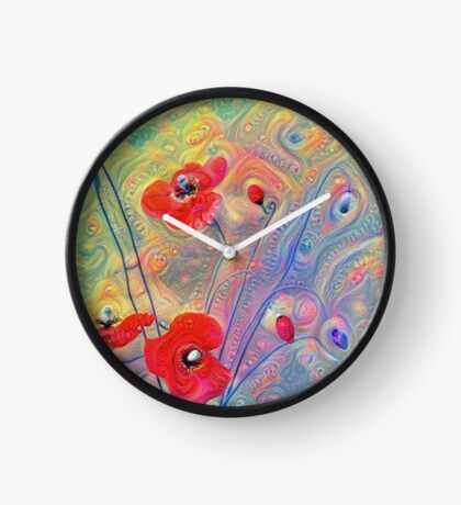 #Deepdreamed Poppies Clock