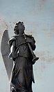 Angel at the  Necropolis, Havana, Cuba by David Carton