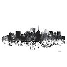 Richmond, Virginia Skyline - B & W von Marlene Watson