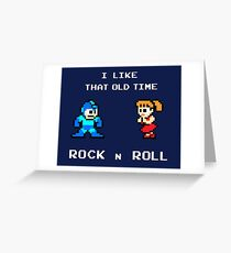 Old Time Rock and Roll  Greeting Card