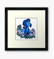 Flower Language - Lapis Framed Print