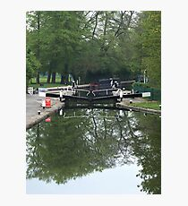 Cowley Lock on the Grand Union canal Photographic Print