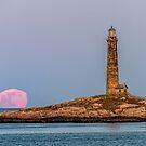 «Luna iluminada y la torre norte.» de Roger Porter