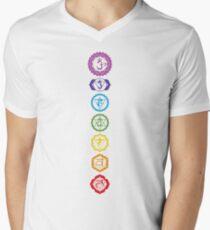 Chakras - The 7 Centers of Force Men's V-Neck T-Shirt