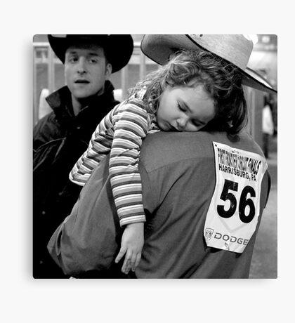 A Cowboy's Shoulder Canvas Print
