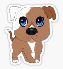 Chibi Pitbull Staffordshire Sticker