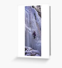 Maligne Fall Ice Climber Greeting Card