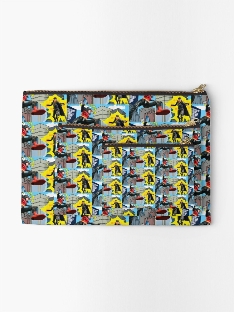 Alternate view of Woman Hero Vs. Woman Villain.   Action Figure Fight! Zipper Pouch