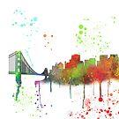 San Francisco, Kalifornien Skyline von Marlene Watson