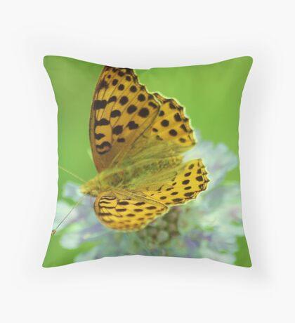 High brown fritillary butterfly Throw Pillow