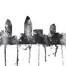 Skyline von San Diego, Kalifornien - B & W von Marlene Watson