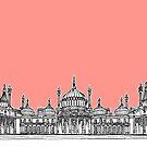 Brighton Royal Pavilion Facade ( Coral version ) by Adam Regester