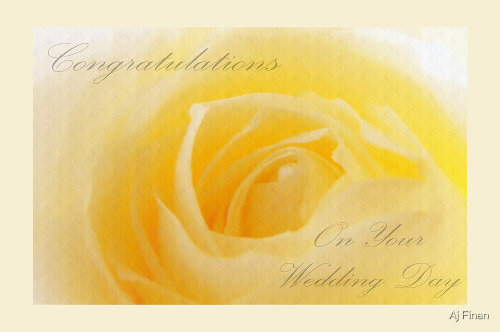 Wedding Card by Aj Finan